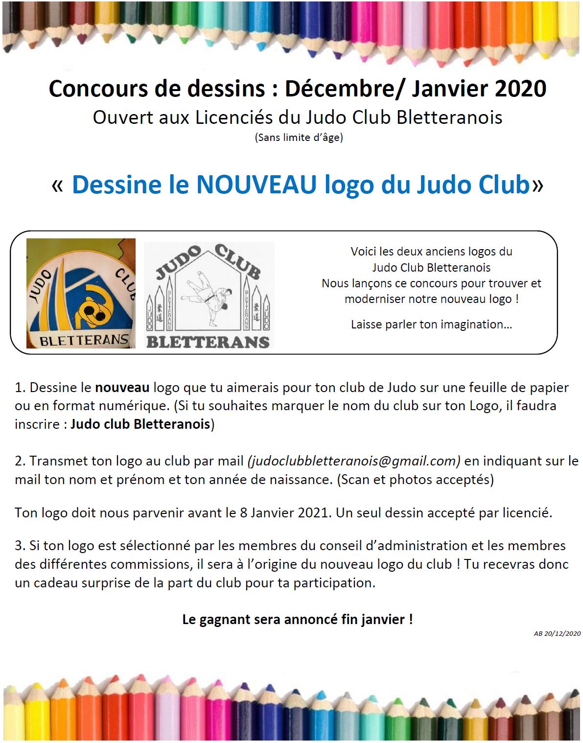 Concours dessins dec 2020 logo du club