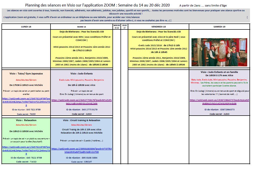 Seances du 14 au 20 dec 2020 jcb